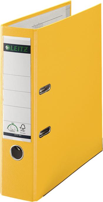 Leitz Папка-регистратор 180° обложка 80 мм цвет желтый