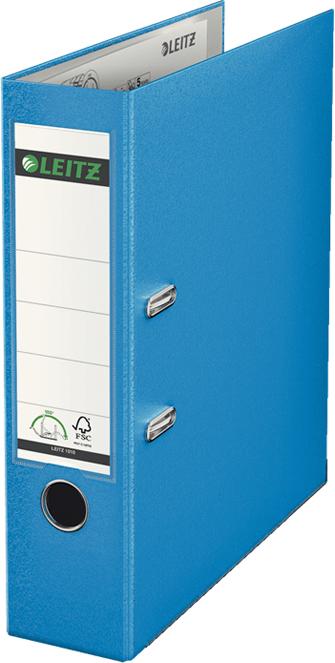Leitz Папка-регистратор 180° обложка 80 мм цвет голубой