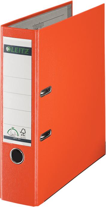 Leitz Папка-регистратор 180° обложка 80 мм цвет оранжевый