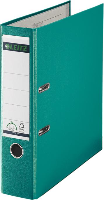 Leitz Папка-регистратор 180° обложка 80 мм цвет бирюзовый