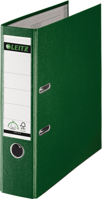 Leitz Папка-регистратор 180° обложка 80 мм цвет зеленый