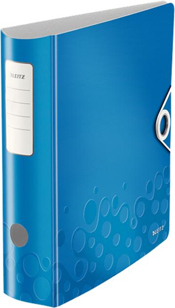 Leitz Папка-регистратор 180° Active WOW обложка 82 мм цвет синий11060036Инновационная папка-регистратор с арочным механизмом, выполненная в яркой цветовой гамме WOW, двуцветная. Благодаря легкому материалу и эргономичному дизайну эти папки удивительно удобны в использовании как в офисе, так и на ходу. - Запатентованный механизм с раскрытием рычага на 180 градусов: раскрытие на 50% шире, заполнение на 20% быстрее. - Стильная застежка на резинке для надежной транспортировки. - Внутренние карманы для хранения бумаг, CD и визитных карточек.
