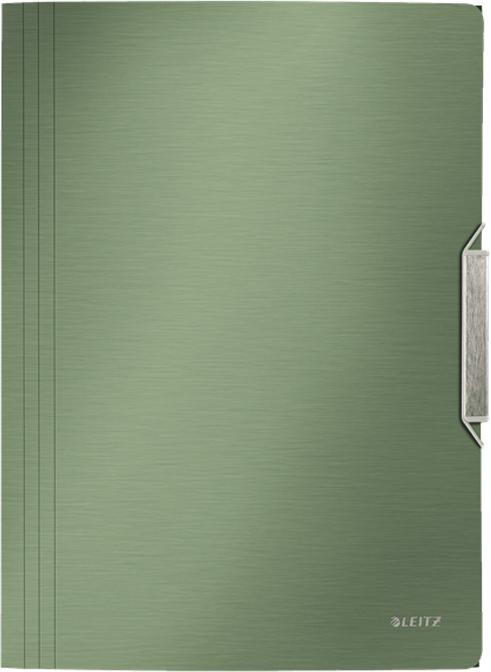 Leitz Папка на резинке Style цвет зеленый футляр для папок формата оптима классик бордовый