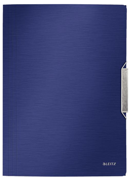 Leitz Папка на резинке Style цвет синий футляр для папок формата оптима классик бордовый
