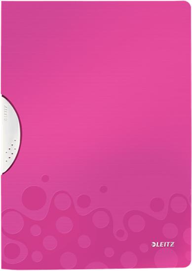 Leitz Папка с клипом WOW цвет розовый