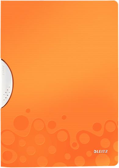 Leitz Папка с клипом WOW цвет оранжевый