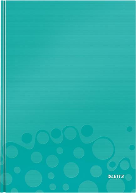 Leitz Блокнот WOW формат A4 80 листов в клетку твердый переплет цвет бирюзовый