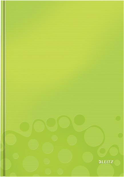 Leitz Блокнот WOW формат A4 80 листов в клетку твердый переплет цвет зеленый