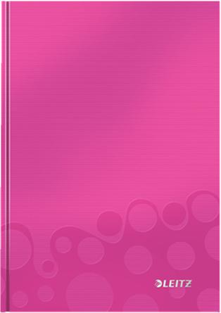 Leitz Блокнот WOW формат A5 80 листов в клетку твердый переплет цвет розовый