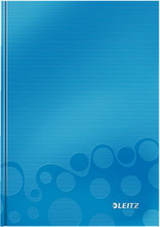 Leitz Блокнот WOW формат A5 80 листов в клетку твердый переплет цвет голубой блокнот pierre cardin lois blanc цвет золотистый черный a5 80 листов в клетку