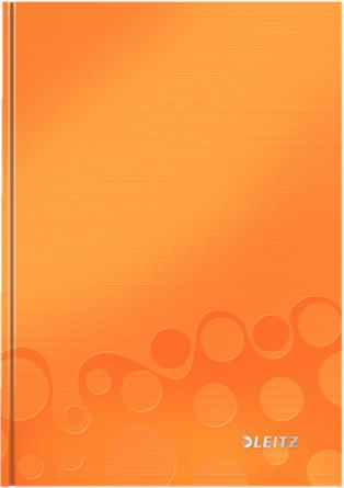 Leitz Блокнот WOW формат A5 80 листов в клетку твердый переплет цвет оранжевый