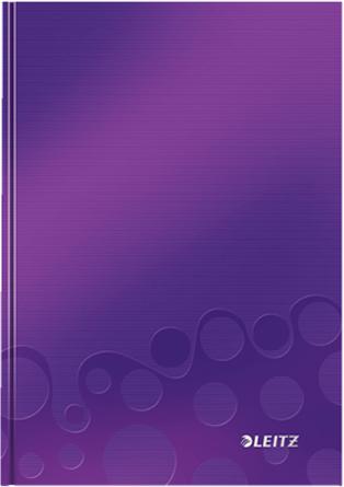 Leitz Блокнот WOW формат A5 80 листов в клетку твердый переплет цвет фиолетовый