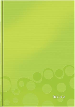 Leitz Блокнот WOW формат A5 80 листов в клетку твердый переплет цвет зеленый