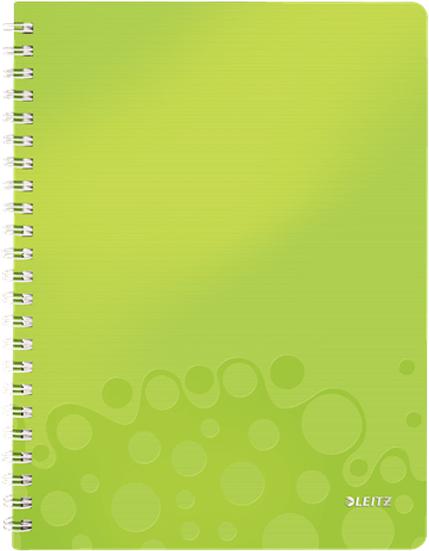 Leitz Блокнот WOW формат A4 80 листов в клетку цвет зеленый