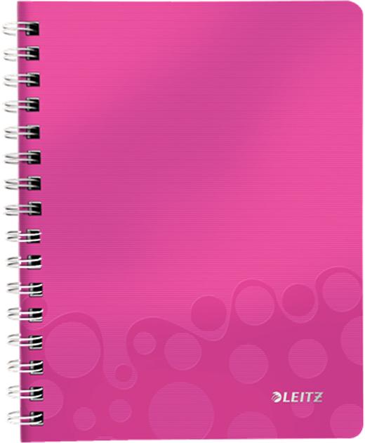 Leitz Блокнот WOW формат A5 80 листов в клетку цвет розовый