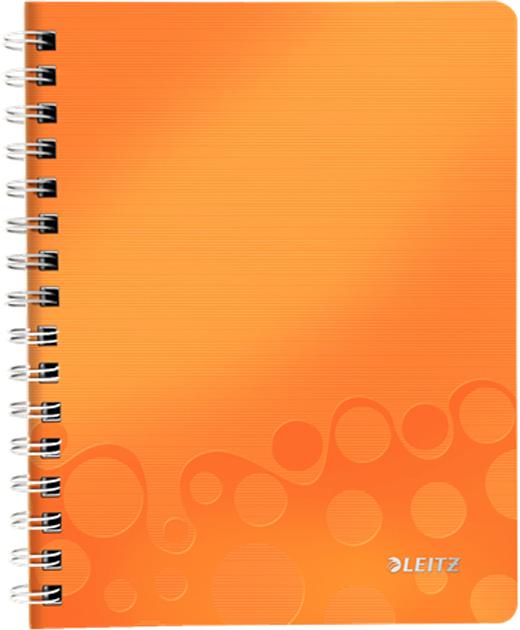 Leitz Блокнот WOW формат A5 80 листов в клетку цвет оранжевый