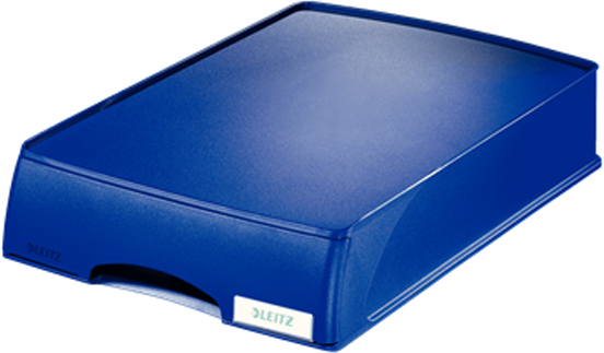 Leitz Лоток для бумаг Plus с выдвижным ящиком горизонтальный цвет синий