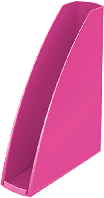 Leitz Лоток для бумаг WOW вертикальный цвет розовый