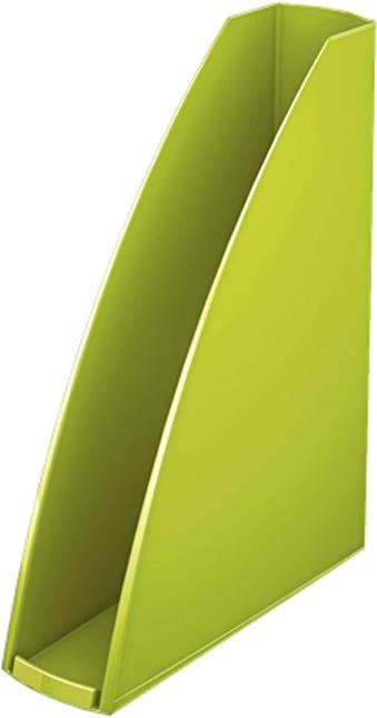 Leitz Лоток для бумаг WOW вертикальный цвет зеленый