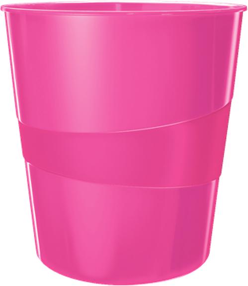 Leitz Корзина для бумаг WOW цвет розовый
