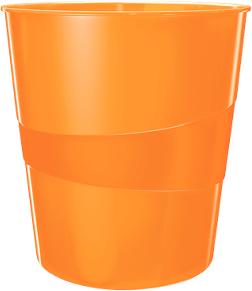 Leitz Корзина для бумаг WOW цвет оранжевый