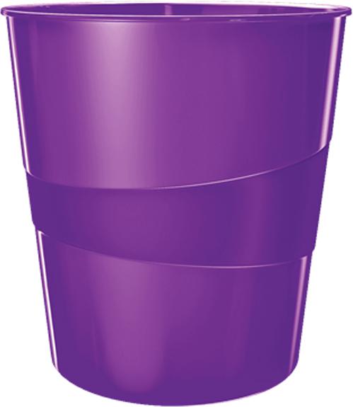 Leitz Корзина для бумаг WOW цвет фиолетовый