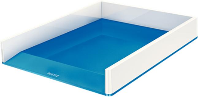 Leitz Лоток для бумаг WOW горизонтальный цвет синий белый
