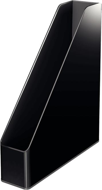 Leitz Лоток для бумаг WOW вертикальный цвет черный