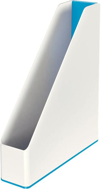 Leitz Лоток для бумаг WOW вертикальный цвет синий белый