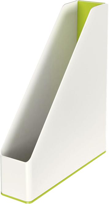 Leitz Лоток для бумаг WOW вертикальный цвет зеленый белый