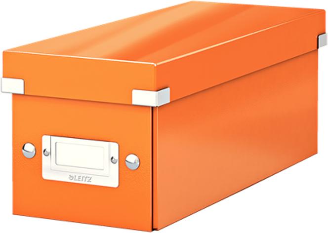 Leitz Короб архивный для CD Click-n-Store WOW цвет оранжевый