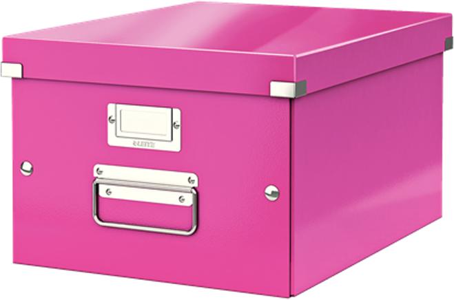 Leitz Короб архивный Click-n-Store размер M (A4) цвет розовый