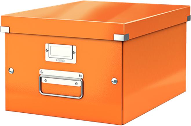 Leitz Короб архивный Click-n-Store размер M (A4) цвет оранжевый