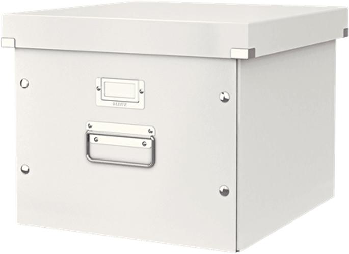 Leitz Короб архивный Click-n-Store для подвесных папок цвет белый футляр для папок формата оптима классик бордовый