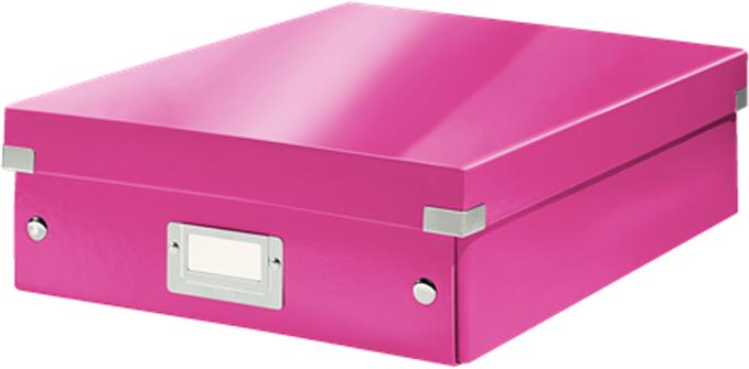 Leitz Короб-органайзер Click-n-Store размер М цвет розовый