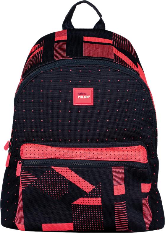 bd0ef1093fd0 Milan Рюкзак детский Knit цвет черный розовый — купить в интернет-магазине  OZON.ru с быстрой доставкой