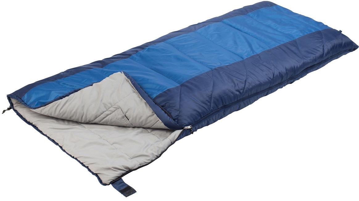 Спальный мешок Trek Planet Aspen, левосторонняя молния, цвет: синий, серый спальный мешок trek planet aspen