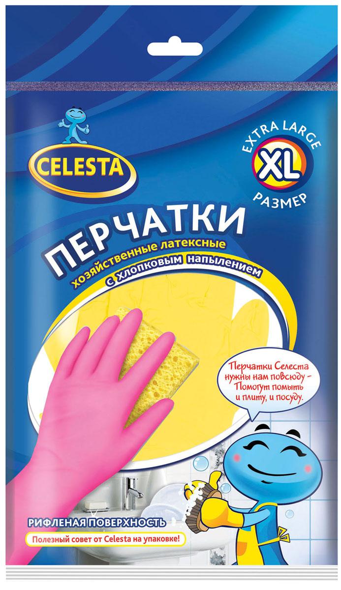 """Перчатки хозяйственные """"Celesta"""", с хлопковым напылением. Размер XL"""