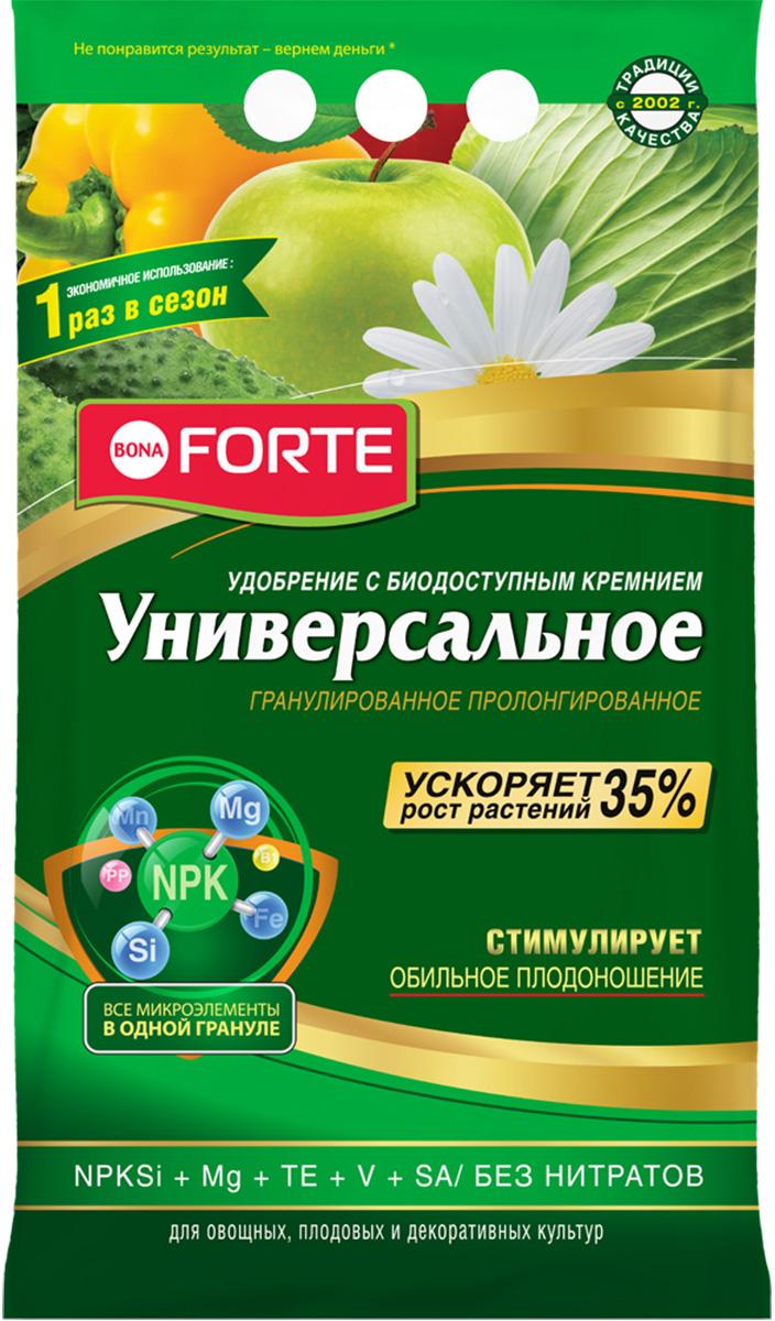 Удобрение пролонгированное Bona Forte Универсальное, с биодоступным кремнием, 5 кг удобрение пролонгированное bona forte розы и клумбовые с биодоступным кремнием 2 5 кг