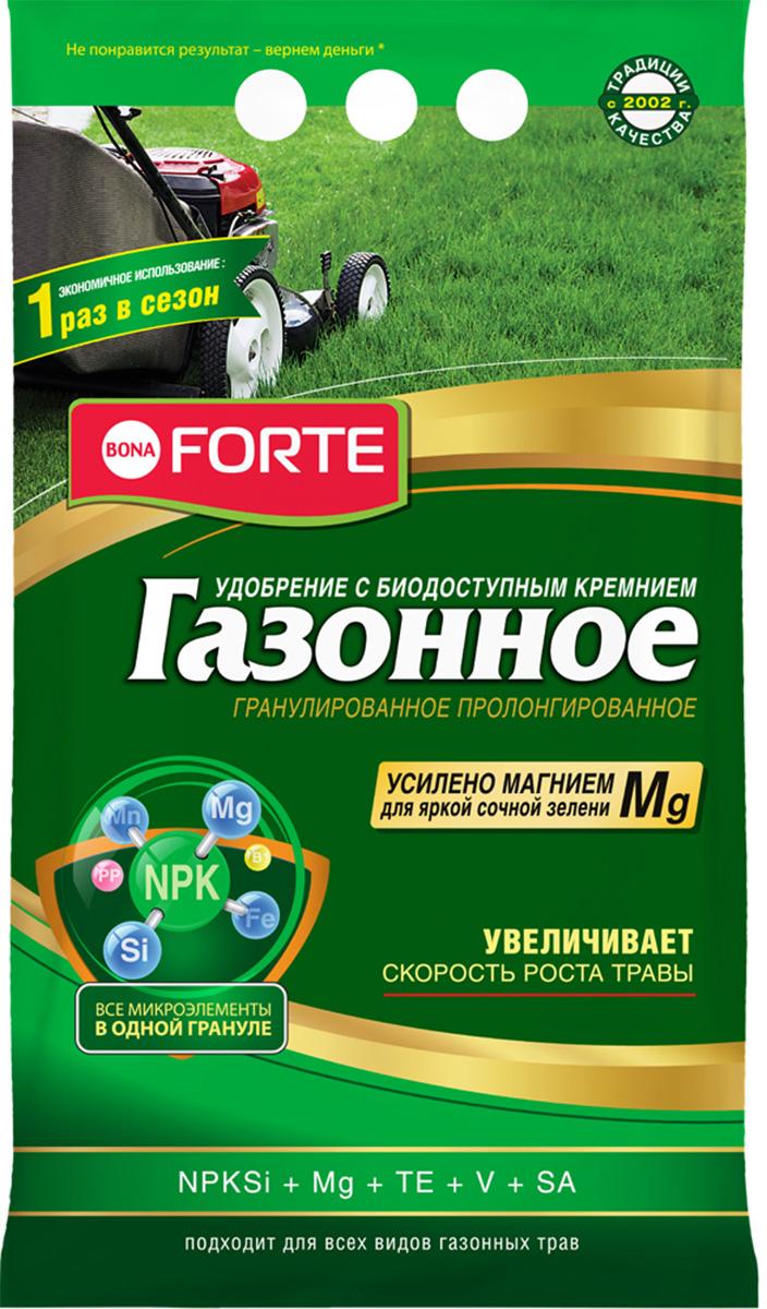 Удобрение пролонгированное Bona Forte Газонное, с биодоступным кремнием, весна, 5 кг удобрение газонное весна лето 5 0 кг