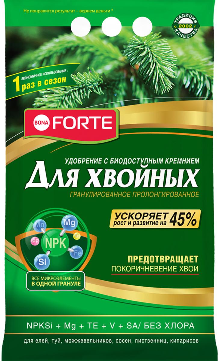 Удобрение пролонгированное Bona Forte Хвойное, с биодоступным кремнием, 2,5 кг удобрение пролонгированное bona forte розы и клумбовые с биодоступным кремнием 2 5 кг