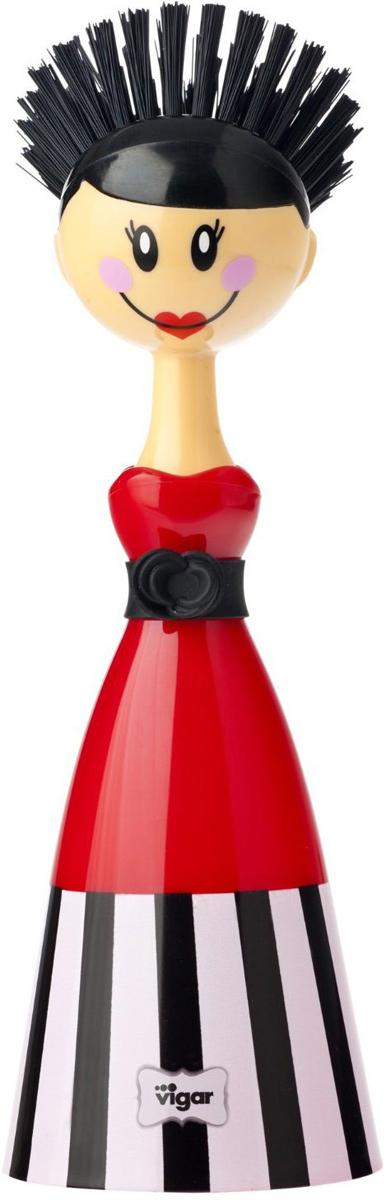 Щетка для посуды Vigar Dolls, цвет: красный, черный. 5300 цена