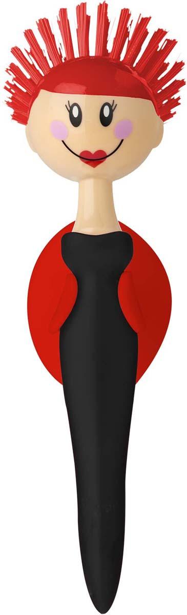Щетка для посуды Vigar Dolls, цвет: красный, черный. 5933 цена