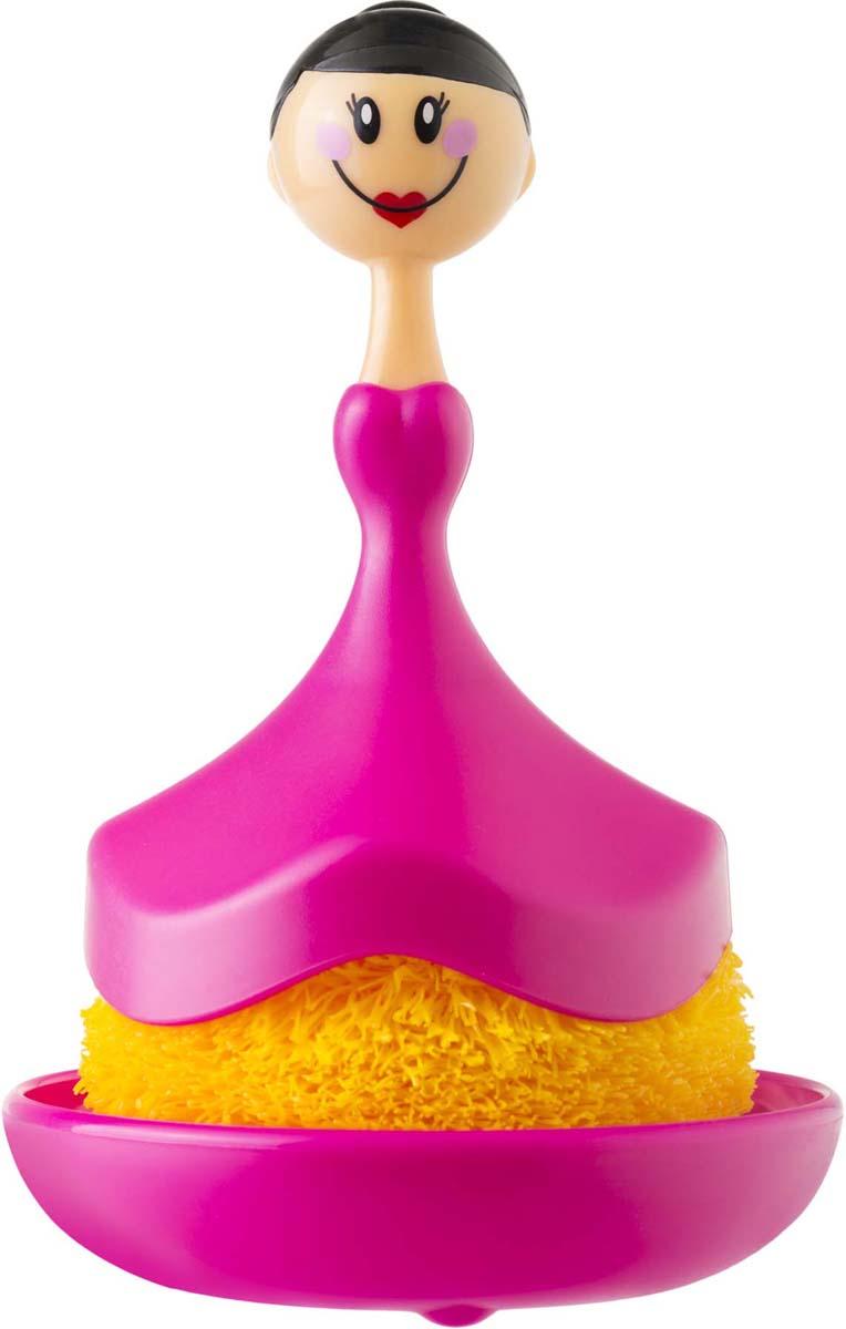 Набор для мытья посуды Vigar Dolls, цвет: фуксия, желтый, 2 предмета7074Комплект для мытья посуды из щетки и подставки, выполненный из высококачественных материалов в интересном дизайне, хорошо впишется в интерьер кухни.Губка щетки бережно избавит от загрязнений, не поцарапав поверхность, и прослужат долгое время.За счет наличия подставки удобно хранить и использовать, теперь всё необходимое всегда под рукой.Имеет красивую упаковку и станет отличным подарком для ваших друзей и близких, вызовет море радостных эмоций и восторга.