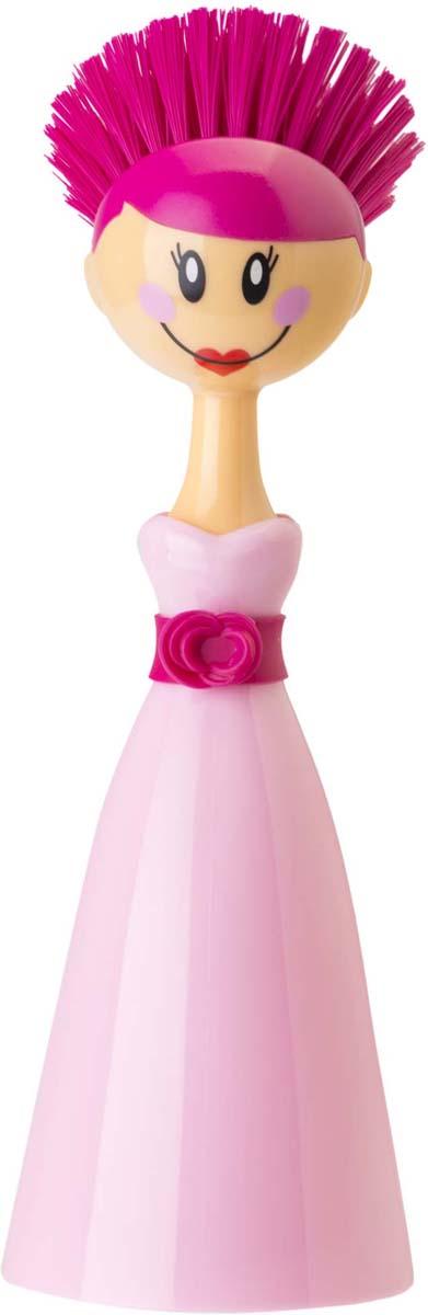 Щетка для посуды Vigar Dolls, цвет: розовый цена