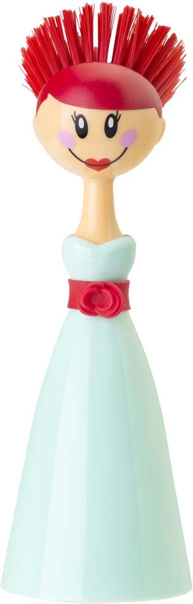 Щетка для посуды Vigar Dolls, цвет: бирюзовый цена