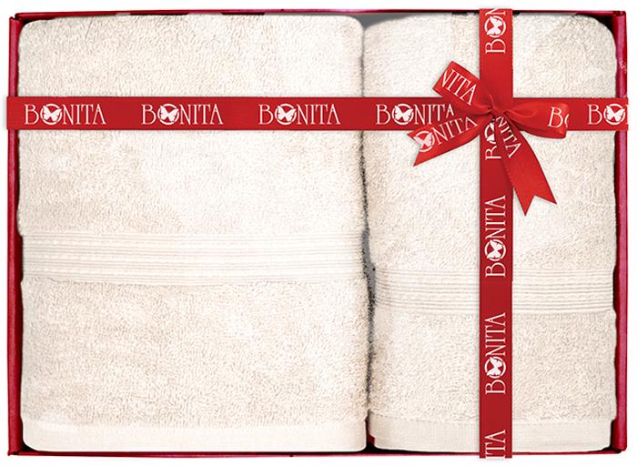 Набор банных полотенец Bonita Classic, цвет: светло-бежевый, 70 х 140 см, 2 шт набор банных полотенец bonita classic цвет светло бежевый 70 х 140 см 2 шт