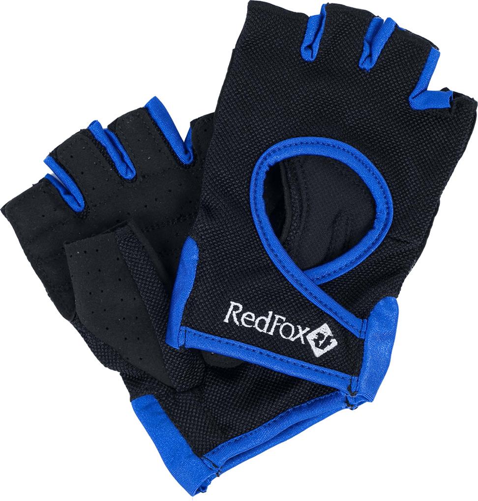 Велоперчатки Red Fox Winner, цвет: черный, синий. Размер M