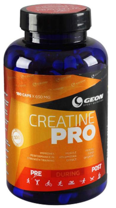 Креатин Geon Креатин Про, 650 мг, 180 капсул комплекс аминокислот geon омега ликопин 700 мг 90 капсул
