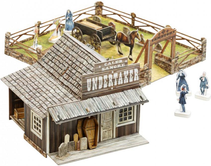 Умная бумага Сборная модель из картона Дикий Запад Кладбище